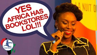 African Writer Chimamanda React to Racist Question
