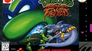Teenage Mutant Ninja Tournment Fight Game play #1  [SNES] 【Full HD】