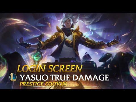 Yasuo True Damage Prestige Edition | Login Screen - League of Legends (Fanmade)