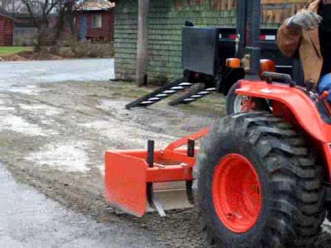 Spread gravel with Box Scraper
