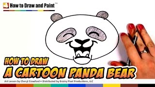 How to Draw a Panda Bear Face Cartoon Step by Step - Cute Panda Bear Drawing | CC