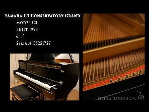 Yamaha c3 conservatory grand piano for sale living for Yamaha c3 piano