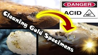 Cleaning rocks with different acids (Finding Gold specimens!)