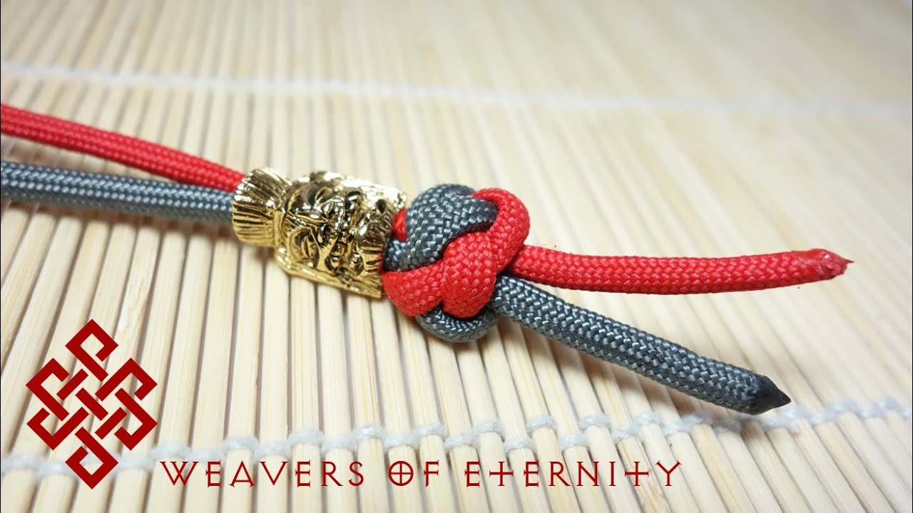 How to tie a paracord lanyard knot two strand diamond for Easy paracord lanyard