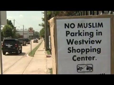 'No Muslim Parking' SIgn at Texas Shopping Center
