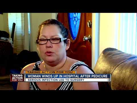 Tampa woman spends a week in the hospital following a pedicure | WFTS Investigative Report