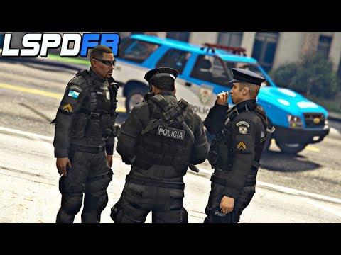 GTA V : MOD POLICIA : PMERJ EM AÇÃO! PATRULHA COM A POLICIA DO RIO DE JANEIRO! : EP. 205