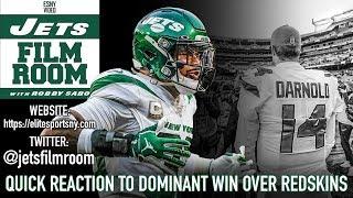 New York Jets Dominant 34-17 Victory Over Redskins Instant Reaction   ESNY Film Room