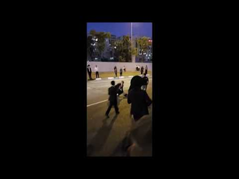 Angry Motorist Strikes Peleg Protester With His Vehicle