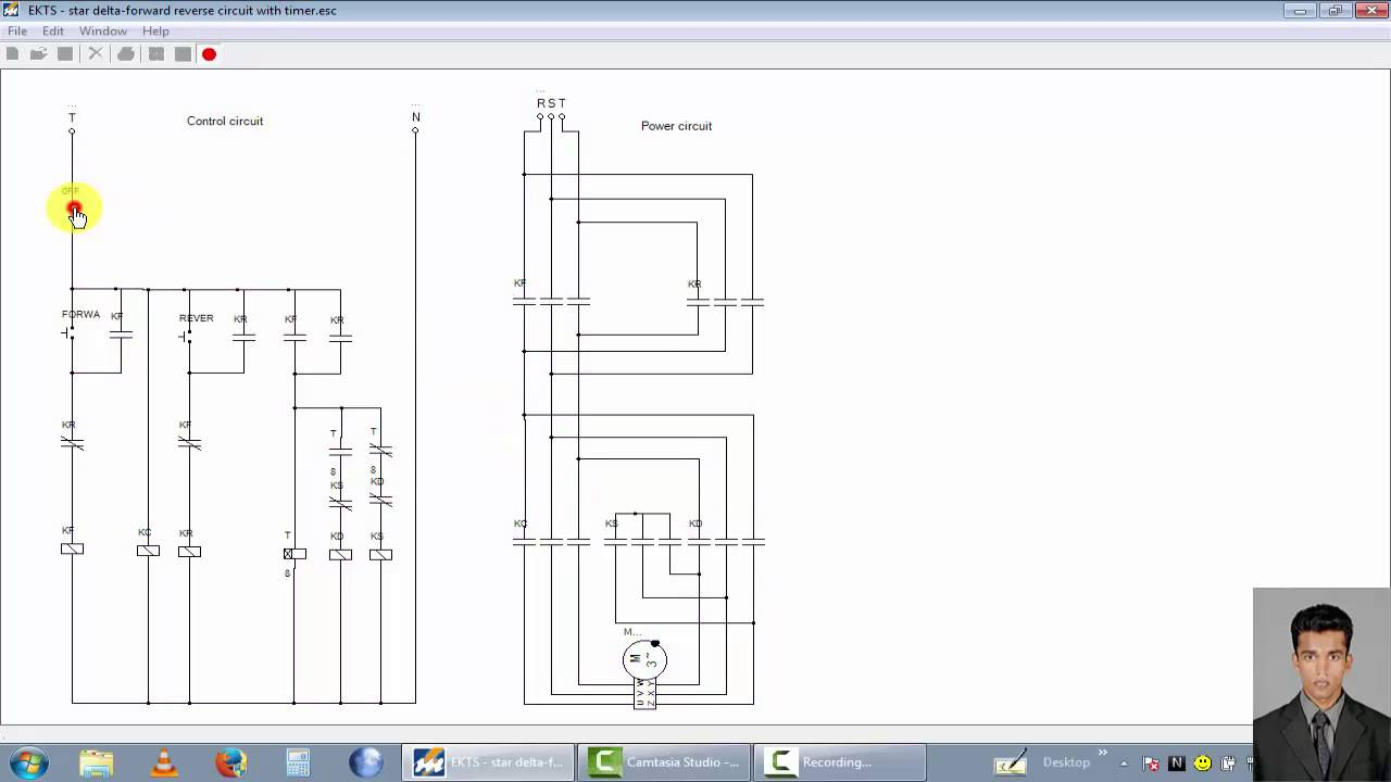 small resolution of three phase motor control circuit star delta forward reverse circuit with timer youtube