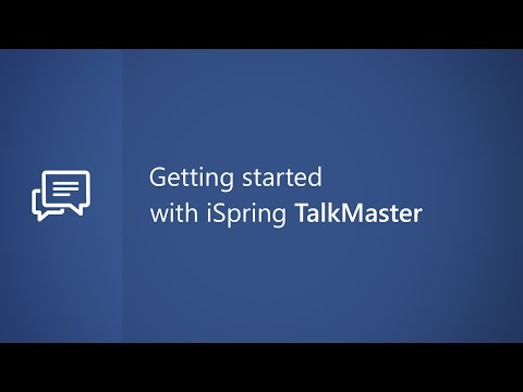 Getting Started with iSpring TalkMaster