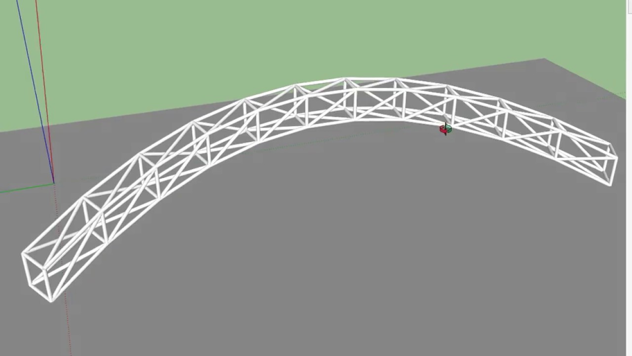 Curved Steel Trusses | Sketchup Quick Tip - Самые лучшие видео