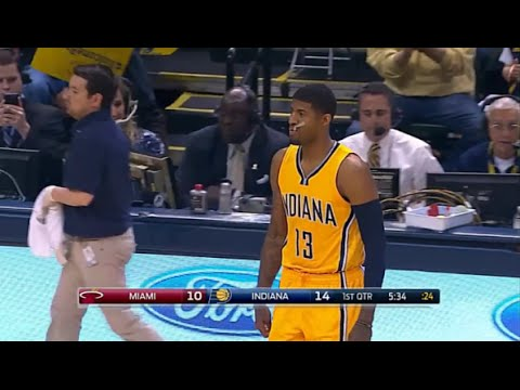 Paul George's return after broken leg + first points! (04.05.2015)
