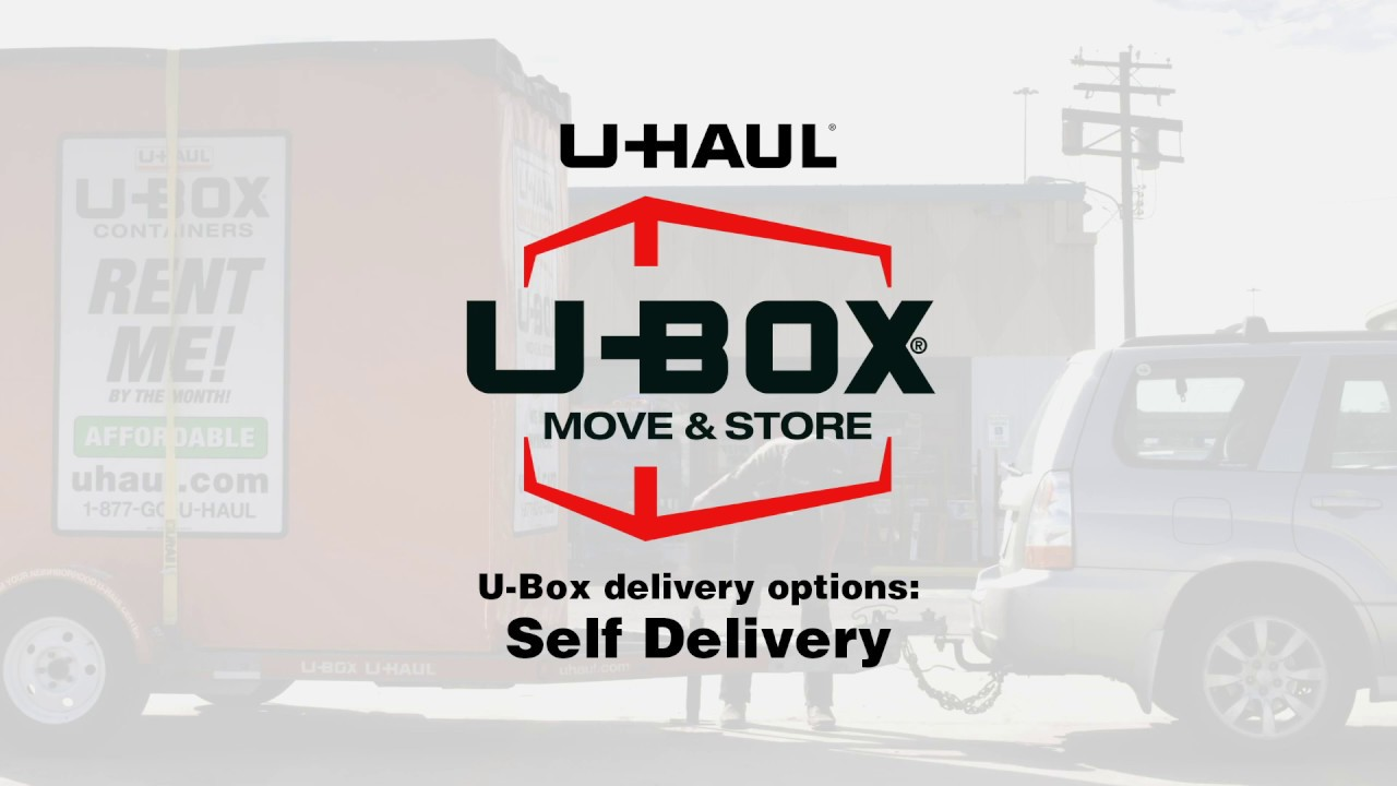 U-Haul: Delivery Options for U-Box Moving Containers
