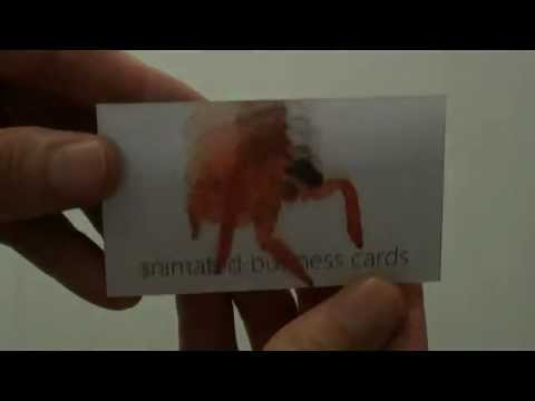 animated lenticular business cards - Animated Business Cards