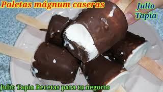 Paletas Mágnum caseras sin molde receta original
