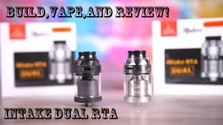 Build,Vape,and REVIEW! Augvape/Mike Vapes Intake Dual RTA!