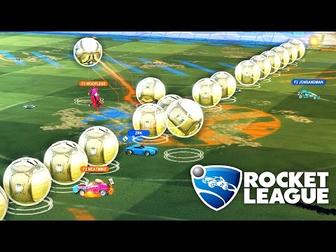 20 BALLS - 6 CARS - MODDED ROCKET LEAGUE DODGEBALL 3v3