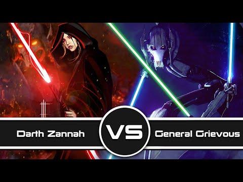 Versus Series: Darth Zannah Vs  General Grievous