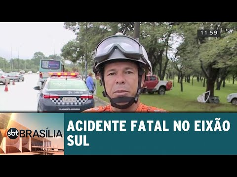 Carro bate no Eixão Sul e passageira morre