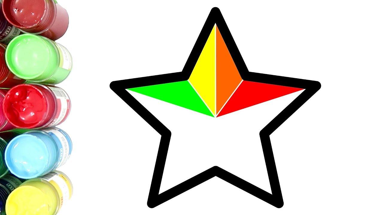 Belajar Menggambar Dan Mewarnai Bintang Warna Warni Dengan