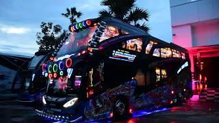 จัดตามคำขอ!!! แสง สี แบบอลังการ ภายในรถบัสนฤมิตร 8ล้อทรง Super-S ลายกิโมโน By: แอ๊ด โอเคบัสเพชรบุรี