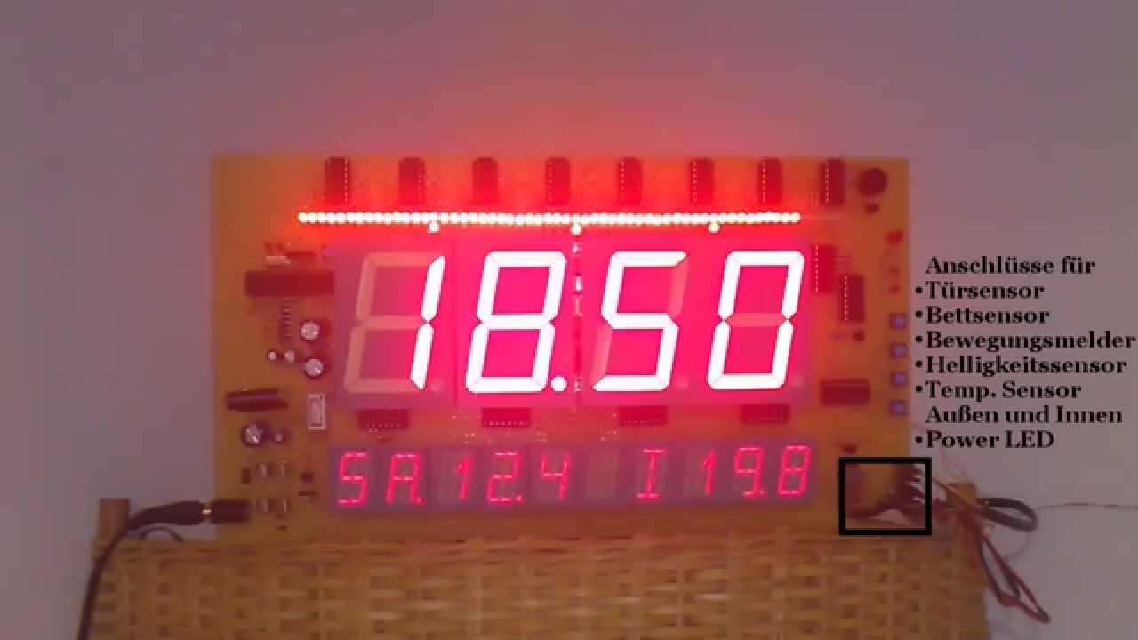 Arduino uhr mit wecker youtube