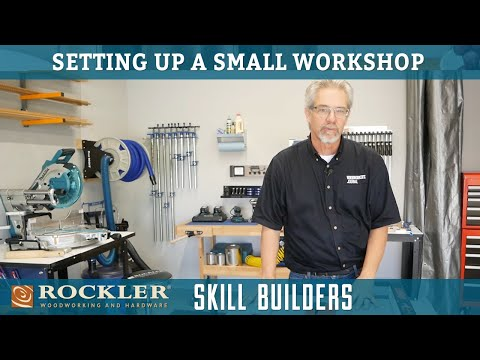 Setting Up a Small Woodworking Shop | Rockler Skill Builders