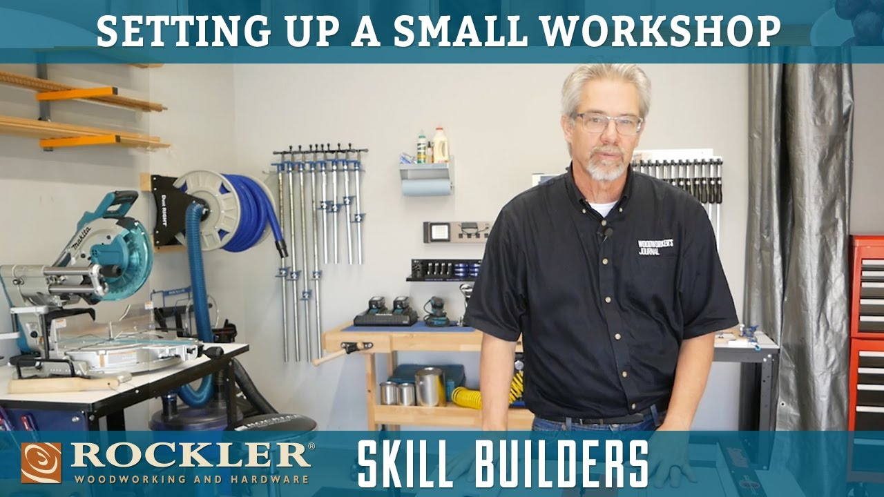 Setting Up a Small Woodworking Shop | Rockler Skill Builders - YouTube