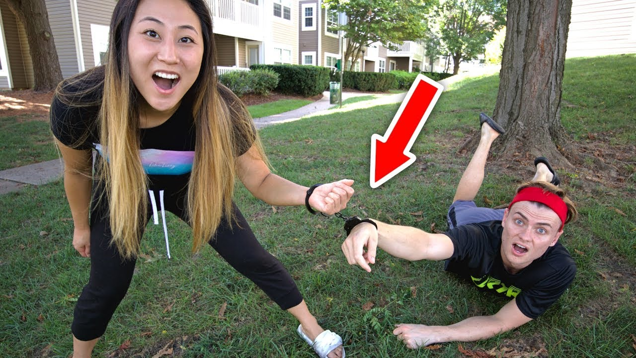 HANDCUFFED TO MY CRUSH FOR 24 HOURS!! ❤️
