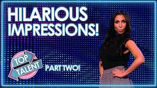 HILARIOUS Impressionists On Britain and America's Got Talent! PART TWO | Top Talent