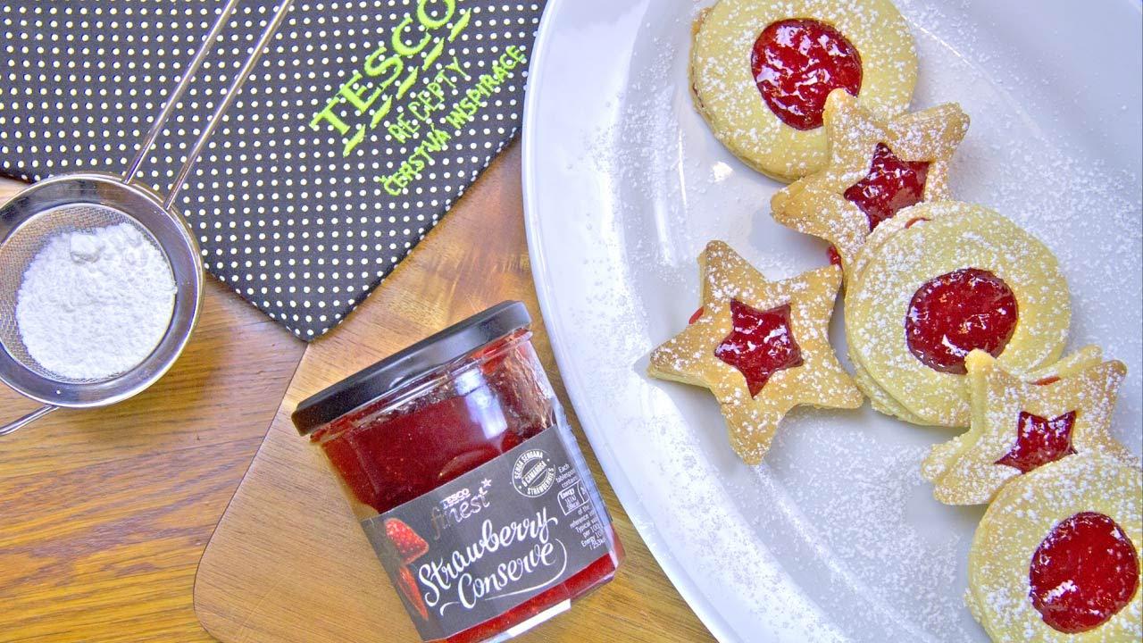 7455aac37 Tesco recepty | Snadné linecké cukroví plněné oblíbenou marmeládou ...