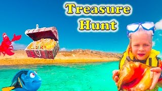ASSISTANT Sea Treasure Disney Nemo + Dory + Ariel Real Life Toys Treasure Hunt Challenge Video