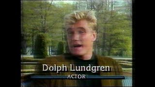 Dolph Lundgren, Ivan Drago in Rocky IV - Good Morning America in Sweden 18 May 1988