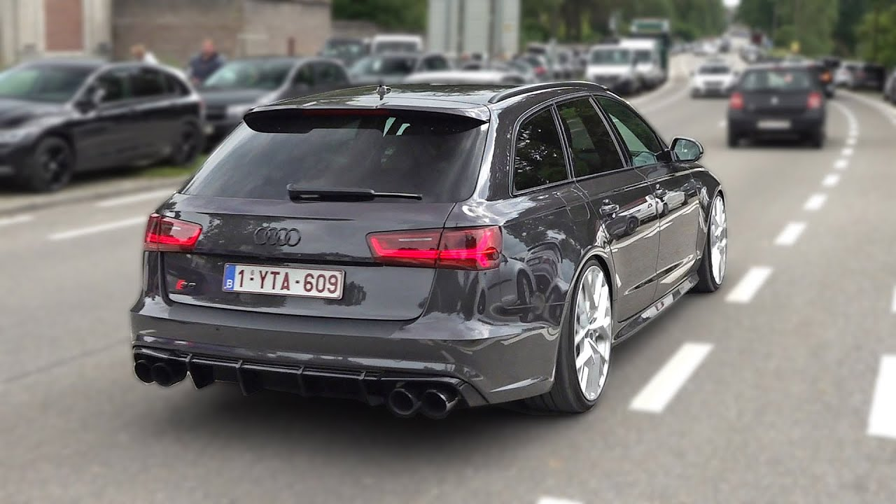 Audi S6 Avant V8 Sound with Decat Downpipes & Akrapovic Exhaust! Revs, Accelerations, Launch Control