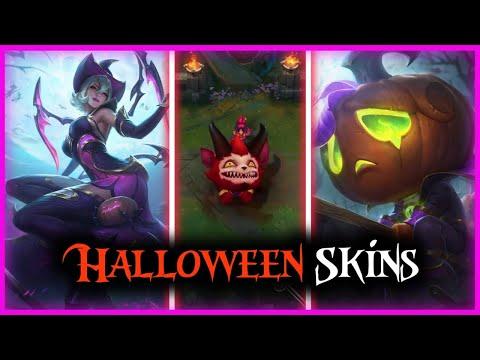 Lol Halloween Skins ( Little Devil Fizz,Pumpkin Prince Amumu,Bewitching Elise )   League Of Legends