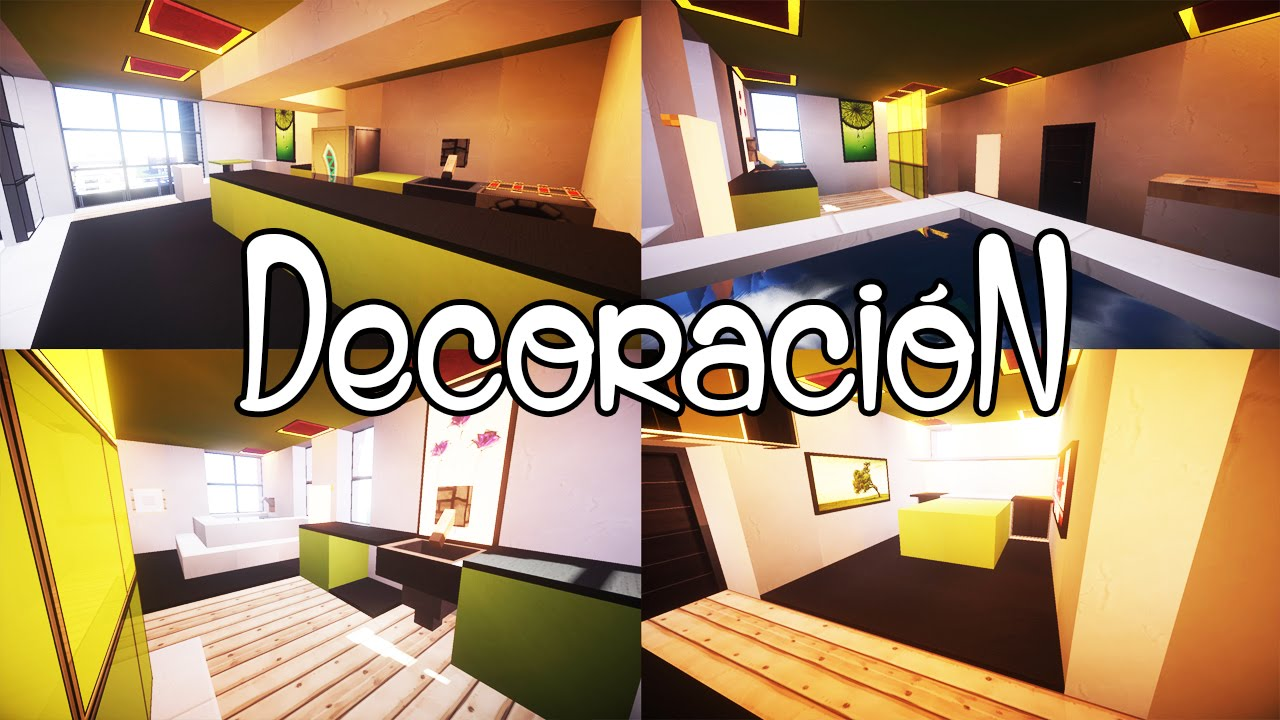 Tutoriales de Decoración Como decorar un apartamento moderno en Minecraft YouTube -> Decorar Apartamento Moderno