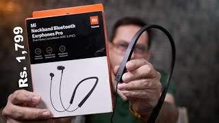 Mi Neckband Bluetooth Earphone Pro review - with ANC priced Rs. 1,799