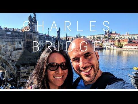Travel to Prague: Crossing the Charles Bridge