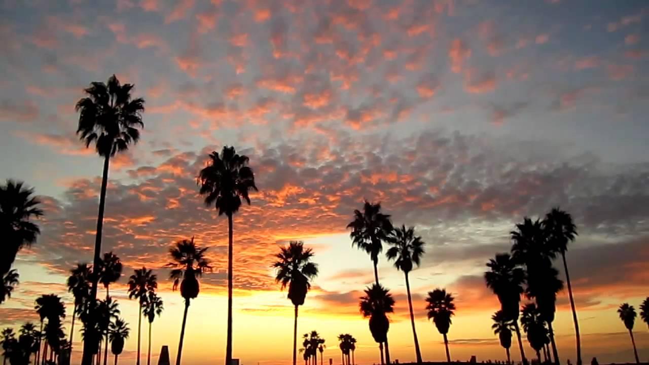 POPCORN CLOUDS SUNSET VENICE BEACH OCT 30, 2011