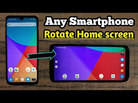 How To Rotate Home Screen Of Android Smartphone || Easy To Rotate Home Screen Any Android Smartphone