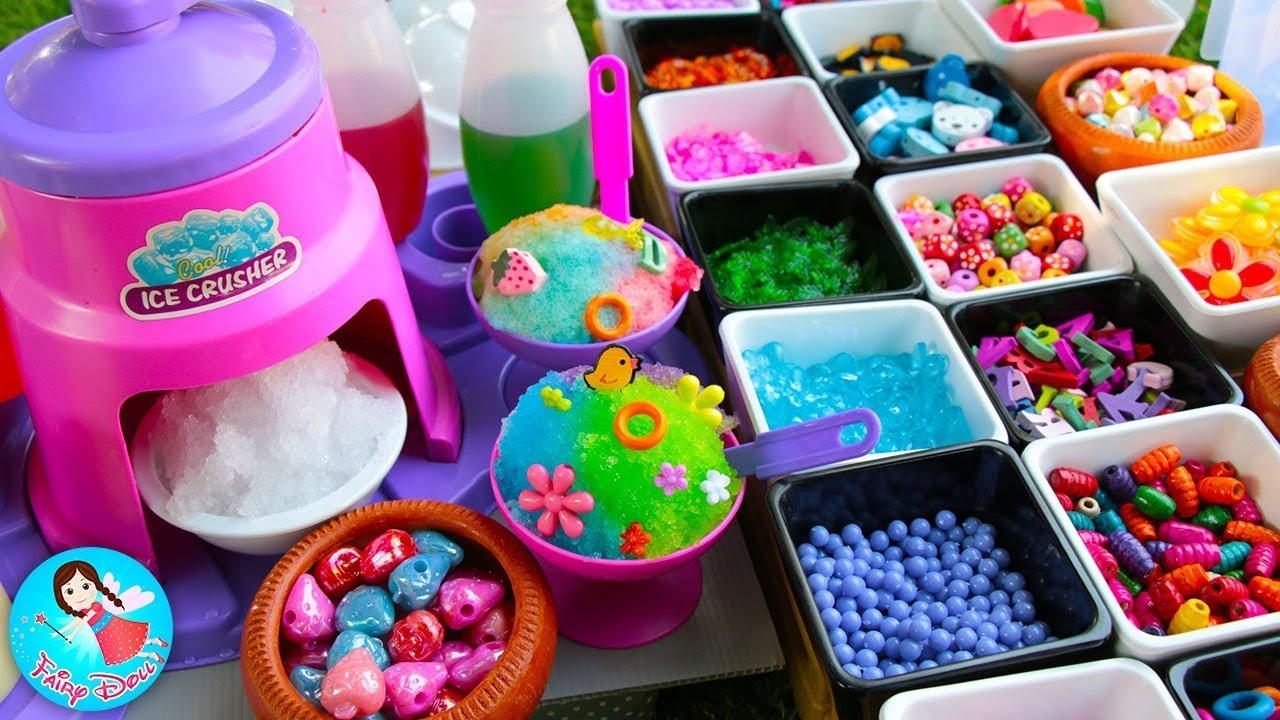 ละครสั้น เจ้เปิดร้านขาย น้ำแข็งใส บิงซู ของเล่นอาหาร ของเล่นเครื่องครัว Baby Cooking Toys Play