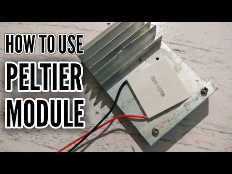 how to use peltier module for cooling | TEC1-12706 peltier module