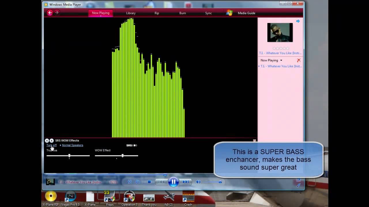 Windows Media Player 11 SUPER BASS/Equalizer tutorial
