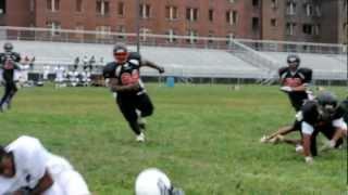 Free Safety knocks helmet off running back