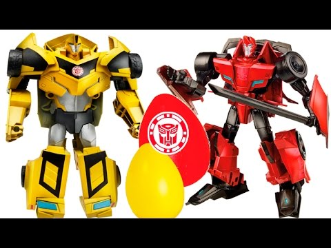 Transformers Lots of Surprise Eggs and Robots in Disguise Toys, Blind Bags and Battles!!