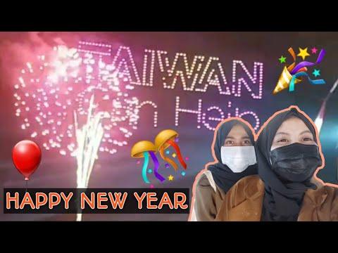 SUASANA MALAM TAHUN BARU DI TAIWAN 2021    TKW TAIWAN