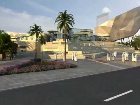 Architectural CGI Animation of Cultural Building in Kuwait displayed at MIPIM