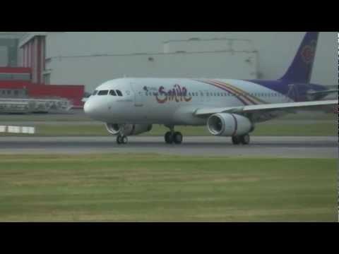 A320 Thai Smile HS-TXB take off