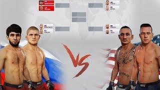 РОССИЯ vs АМЕРИКА в ТУРНИРЕ UFC / Хабиб Нурмагомедов и другие